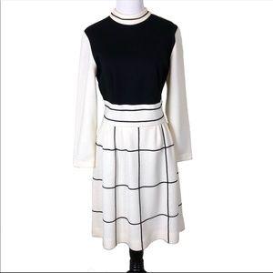 VINTAGE Mock Neck Long Sleeved Career Work Dress M